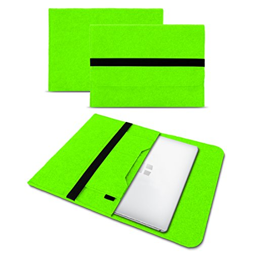 UC-Express Sleeve Hülle kompatibel für Odys Trendbook 14 Pro Tasche Filz Notebook Cover 14' Laptop Schutz Hülle, Farbe:Grün