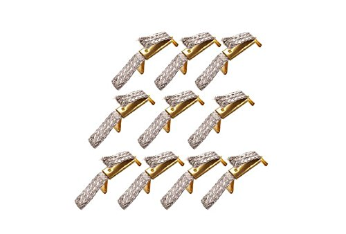 Carrera Double Sliding Contact  - Trencillas para Go, Digital 1/43, Color Oro, 10 Unidadades