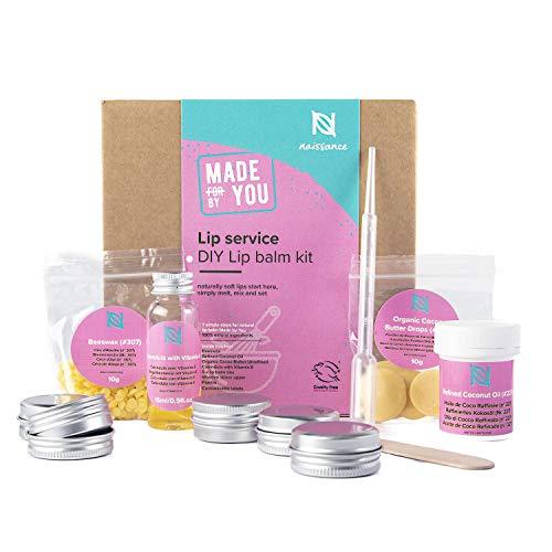 """Naissance DIY """"Lip Service"""" - Lippenbalsam zum Selbermachen - 100% rein & natürlich - luxuriöses Geschenkset für jede Gelegenheit"""