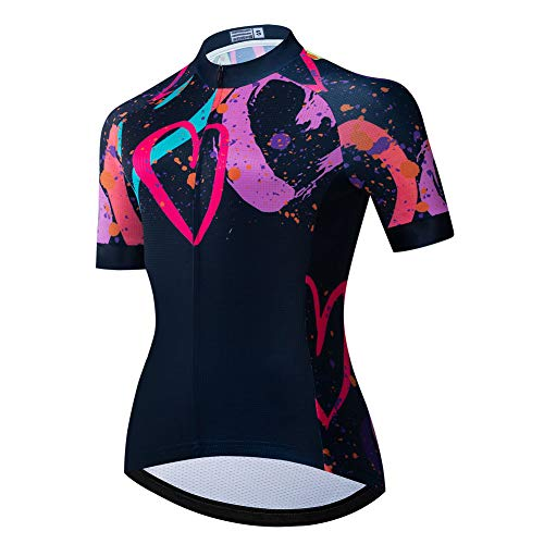 MTB Shirt Cycling Jersey for Women, Summer Quick Dry Respirant Cycle Jerseys Outdoor Mountain Bike Top Ladies Bicycle Wear