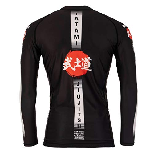 Tatami Fightwear Langarm Rashguard Bushido - Herren Rash Guard für Jiu Jitsu, Fitness, Grappling, MMA (M)