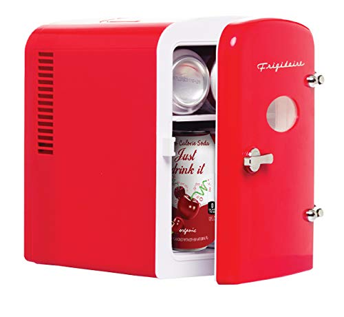 Frigidaire Retro Mini Compact Beverage Refrigerator, Great for keeping office lunch cool! (RED)