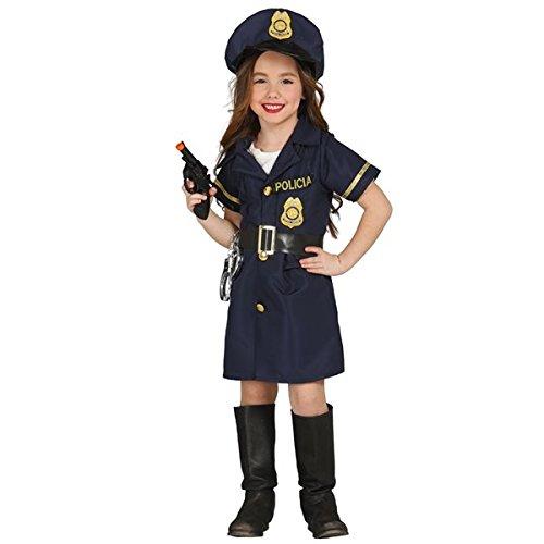 Guirca- Costume da Poliziotta, Colore Blu, Bambina 3-4 Anni, 85700