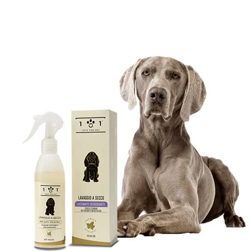 Shampoo a Secco Naturale per Cani, 250ml - Lavaggio Senza Bisogno di Acqua o Risciacquo - Ingredienti di Origine Vegetale - per Tutti i Tipi di Pelo, Linea 101