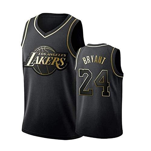Camiseta de baloncesto Swingman NBA NO.23 NO.24 Malla sin mangas Deportes Cómoda, fresca, transpirable, edición conmemorativa, color negro Camiseta de baloncesto