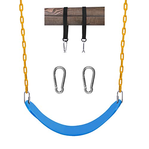 """Sunnyglade Swings Seats Heavy Duty with 66"""" Chain,Playground Swing Set Accessories Replacement with Snap Hooks and Hanging Strap Support 440lb"""