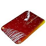 Ximger Tapiz de decoración de Navidad para puerta, alfombra...