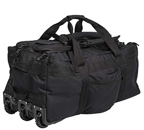 Miltec Sturm Sac commando 3 roulettes - 118 Litres - Noir