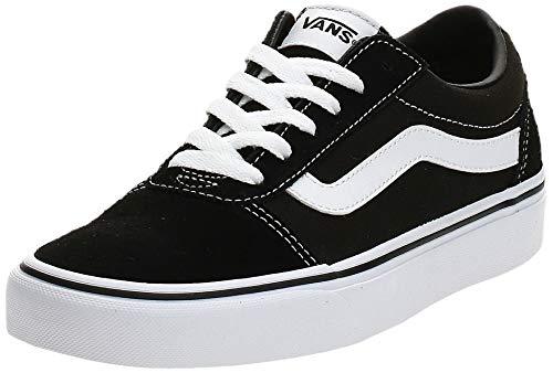 Vans Women's Ward Suede/Canvas Low-Top Sneakers, Black ((Suede/Canvas) Black/White Iju), 4.5 UK