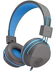 JLAB Audio Jbuddies studio volym säker, vikning, över örat barn hörlurar med mikrofongrafik/blå