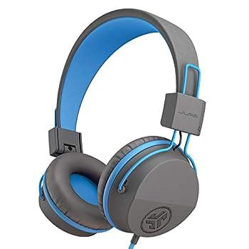 JLab JBuddies Studio Over-Ear Kids Wired Headphones | Toddler Headphones | Kid Safe | Studio Volume Safe | Volume Limiter | Folding | Adjustable | Noise Isolation | with Mic | Graphite / Blue