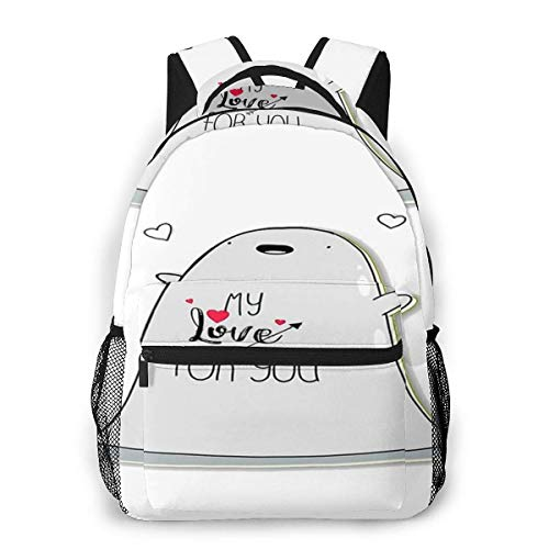 LNLN Mochila Casual verdeLesmus Lovee Casual Backpack Waterproof Computer Bag School Bag Travel Bag