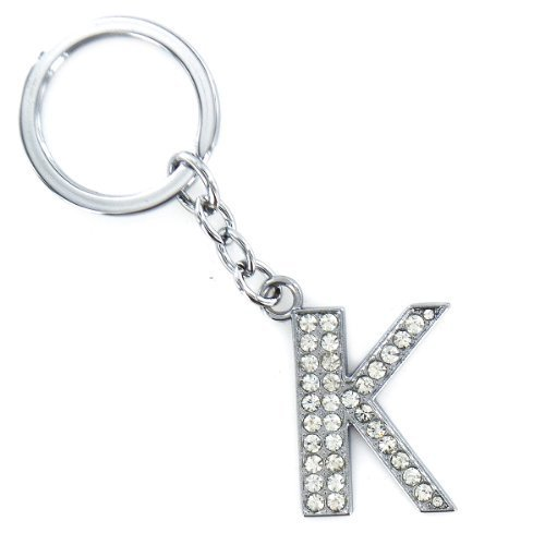 Diamond Keychain Crystal Bling Keyring Initial Letters Shiny Keyrings Az Chain Shopmonk (K)