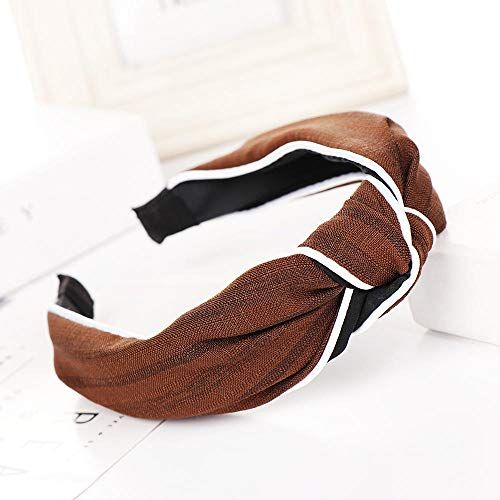 Dames Strik Kaarten_Gestreepte Haarband Bow Breedzijdige Sport Hoofdband