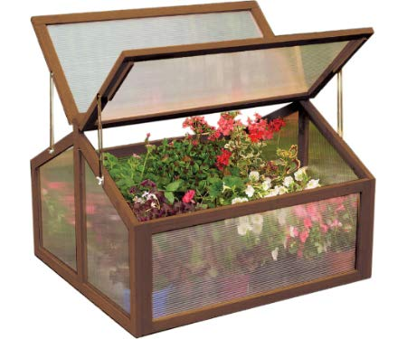 Gardman 7650 Large Wooden Cold Frame, FSC Certified Timber Frame, 35' Long x 31' Wide x 35' High