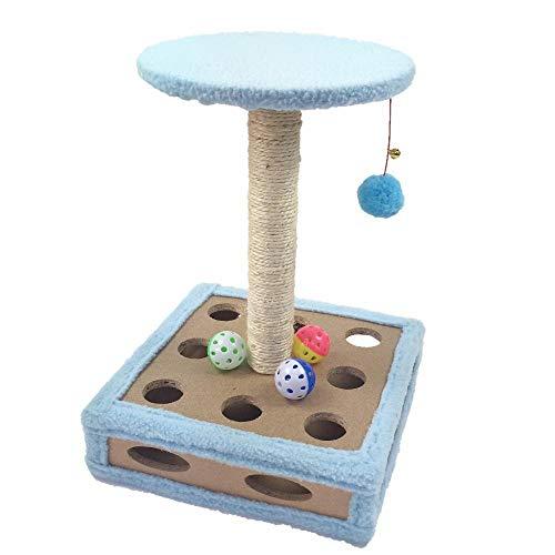 Axiba Play Towers Bomen voor Katten Huisdier kat speelgoed kat Zelf spelen Box grijpen Board meubels 30 * 30 * 44cm, A