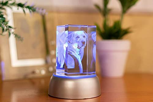 Foto cristal 3D con forma de rectángulo, regalo personalizado, regalo