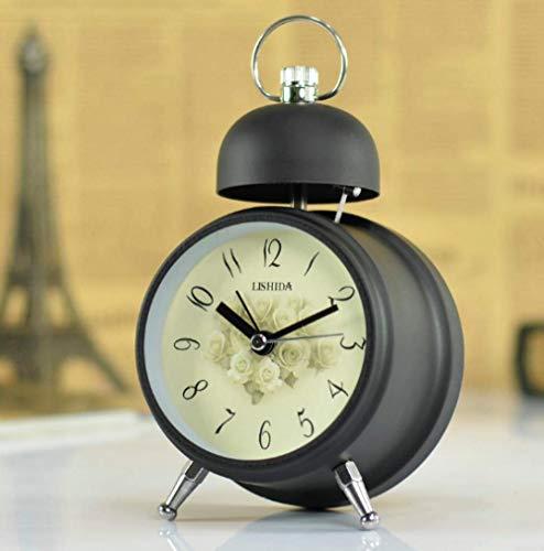 Creative Bedside Klok Kids American mute antieke Leuke wekker landelijke bureau en tafel Klok mode-Koreaanse bel retro schattige wekker Europese clock