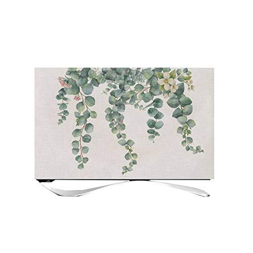 OMKMNOE TV Cubierta TV Cubierta Polvo Europeo Tela TV Cubierta De TV Monitor Forestal Cubiertas,Beige,43 Inches