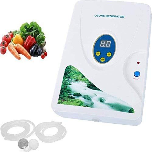 Purificador de aire MGWA Generador De Ozono Ozonizador Purificador De Agua Ciclo Digital Purificador De Aire Contra El Olor Del Esterilizador De Aniones Ozonizador For La Comida A Casa De Las Frutas D