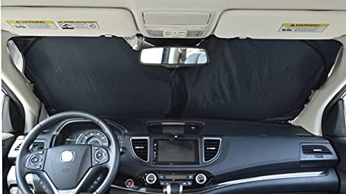 A1 Shades 240T-Fabric Car Windshield Sunshade for Trucks SUV Foldable Window Sun Shade Blocking Shield Cover -Medium
