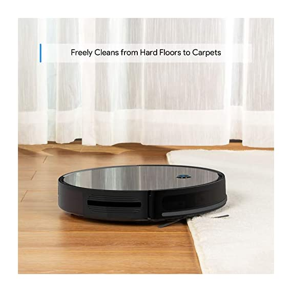 "Robot Vacuum, Max Suction Robotic Vacuums Cleaner, 2.7"" Bagotte Robot Vacuum Cleaner Super Thin & Quiet, Large Dust Bin, Self-Charging, Ideal for Pet Hair, Carpet, Hardwood Floors 2 Strong Cleaning→Large Dust Bin: Bagotte 1500 PA robot vacuum cleaner can easily pick up pet hair, large particles on the floor and can even drag trapped dirt from deep inside low-pile carpets. At the same time, the large-capacity Dustbox (0.6L) can hold a lot of garbage, reducing the number of cleanings. High Capacity Battery→Self-Charging: Equipped with 2600mAh li-ion batteries, the robotic vacuums will continuous to clean your house after being fully charged. Especially, when the robot vacuums are at low power, they will automatically return to the charging station for charging. 4 Cleaning Modes→More Choices: 4 different cleaning modes including AUTO / SCHEDULING / SPOT / EDGE, SINGLE ROOM & MAX CLEANING. Bagotte robotic vacuums has a unique Schedule Cleaning mode.You can set any time you want to clean, It will be your excellent helper."