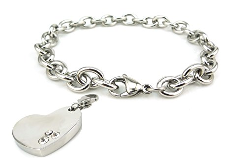 Collectible Advance Bettelarmband 1643 mit Charm Emoticon Herz 1177-1 Energetix 4you Magnetic Jewelry Charms Silberarmband