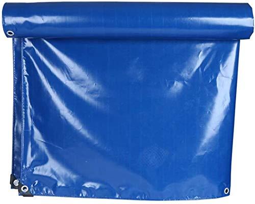 QIAOH Lona De Protección con Ojales Verde 5×4m, Impermeable, Lona De PVC para Exterior, Lona Impermeable Exterior, Reforzada con Ojales De Acero Inoxidable
