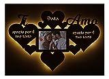 Cornici Foto regalo amore Love Portafoto in Legno da parete personalizzato per Donna Uomo originale...