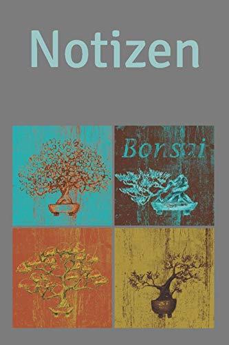 Notizen: Notizbuch mit Punktraster, ca. DIN A5, 120 Seiten, Motiv: Bonsai, Softcover, Journal, Tagebuch