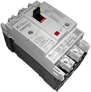 Fuji Electric, EW50RBGU-3P050C, G-TWIN series Earth Leakage Circuit Breaker, 14K, 50 Amp 240Vac 3-Phase Global 100Ma El