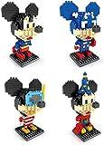 Nwihac 4 Piezas de Modelo de Modelo Micro Lick Brick 3D Puzzle Mini Block DIY Regalo de Juguete arquitectónico