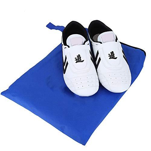 Zapatos de Taekwondo KEENSO, para Boxeo Deportivo Kung fu Taichi, Zapatillas de Artes Marciales, Zapatos Ligeros para Hombres y Mujeres con Bolsa de Almacenamiento Azul(38)
