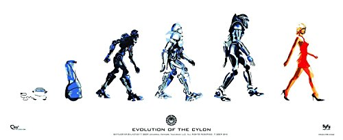 Battlestar Galactica Poster Evolution of The Cylon 74 x 30 cm