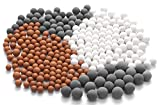 XYCING Filtration Stone Bead Balls for Filter Shower Head - Mineral Stone Beads for Purifying Water (Red Gray White)