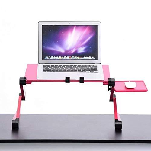 LXDDP Table Pliante réglable ventilée Ordinateur de Bureau Ordinateur Portable Mesa Para Notebook Stand Plateau pour Travailler, écrire, Jouer, Dessiner