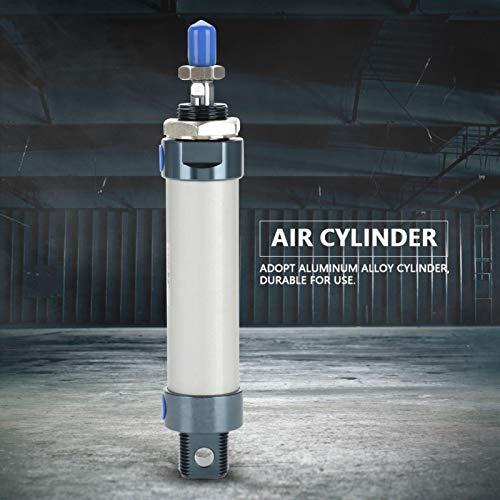 Cilindro de aire, cómodo de instalar, carrera de 50 mm, fácil de usar, cilindro neumático de doble acción de 25 mm de diámetro, estructura de sellado bidireccional para bricolaje en el hogar