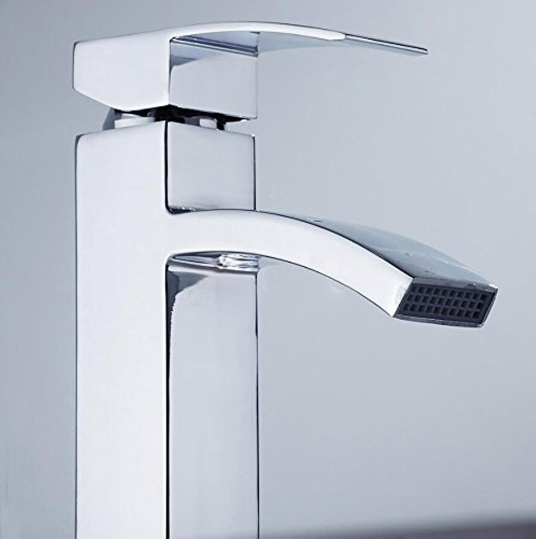 Makej Basin Faucet Waterfall Faucet Bathroom Faucet Water Tap Bathroom Basin Mixer Faucet