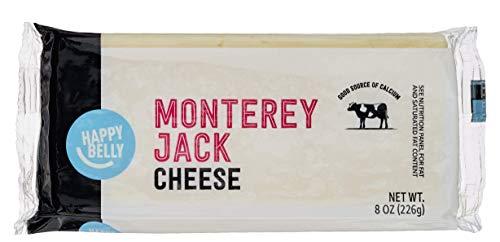 Amazon Brand - Happy Belly Monterey Jack Cheese Block, 8 Ounce