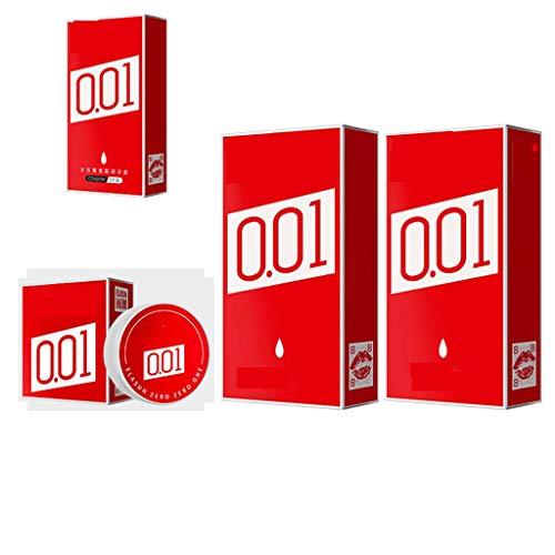 Mankvis 0,01 Ultra-Delgado del condón, condón Masculino Avanzada a Base de Agua de Poliuretano Material, efectivamente el Tiempo de retardo, el Super Lubricar, Proteger la Piel Femenina
