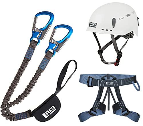 LACD Klettersteigset Pro Evo 2.0 + Klettergurt Easy EXP + Helm Protector 2.0 White
