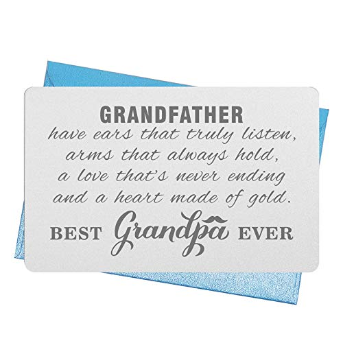 gifts for grandfathers Fathers Day Card Gifts for Grandfather, Best Grandpa Ever Wallet Card