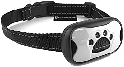 Dog No Bark Collar - Anti Barking Vibration Control Device for Small Medium Large Dogs - Puppy Training Deterrent - No Shock - 2018 Model - Fast Results! White