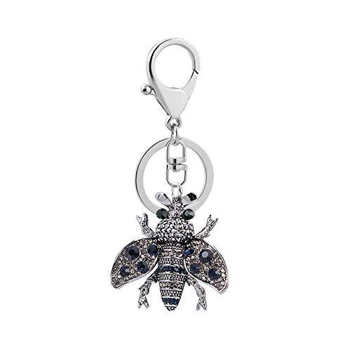 Hipeya Anhänger Bienenfest Schlüsselanhänger Charm Diamond Bee Schlüsselring Muttertag Jahrestag personalisierbar Schlüsselbund Fashion Muttertagsgeschenk Schmuck Gürtelschnallen schlüßelanhänger