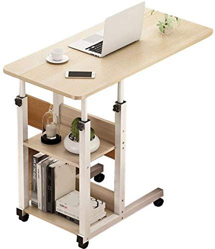 LILAODA Computertisch mit Rädern verstellbar Laptop Tischhöhe höhenverstellbar Notebook Ständer Schreibtisch tragbar für Bett Sofa Beistelltisch Couch-60x40cm A.-EIN_60x40cm Perfect