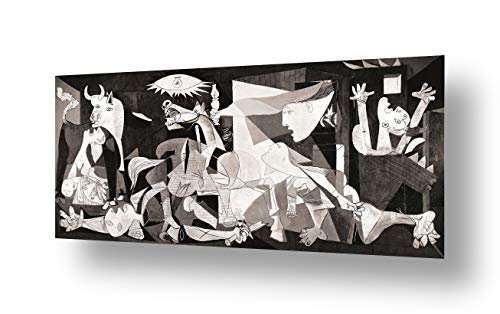Alonline Art - Guernica by Pablo Picasso | print on canvas | Ready to frame (synthetic, Rolled) | 70