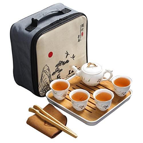 Juegos de Té de Porcelana,servicio de tazas automáticas, regalo para la ceremonia del té, fiesta, decoración de la oficina en casa