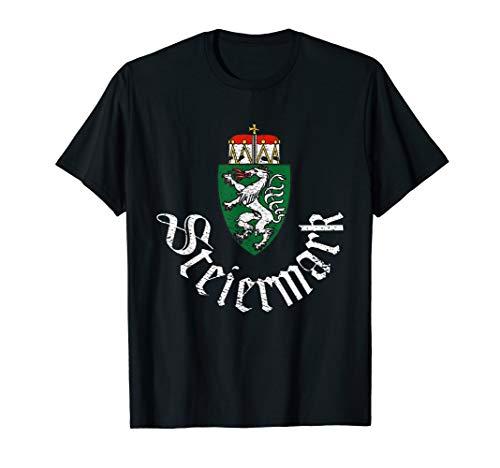Steiermark Wappen Österreich Steirer Heimat Graz Madl Bua T-Shirt