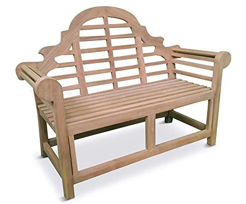 Marlborough Teak 120cms 4ft Lutyens Style Garden Bench For Your Patio