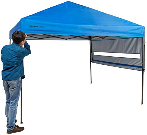 AmazonBasics - Carpa pop-up con paredes laterales, 3 x 3 m, azul 3